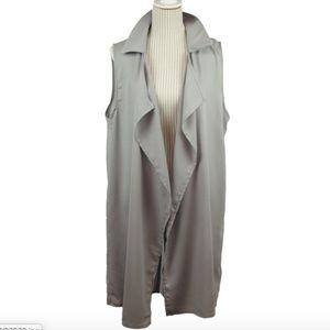 NEW Flowy Boho Chic Bohemian simple VEST soft grey